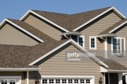 New Residential House Architectural Asphalt Shingle Gable