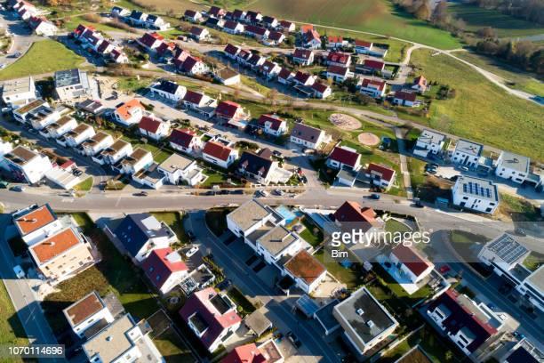 Neue Wohnviertel von oben