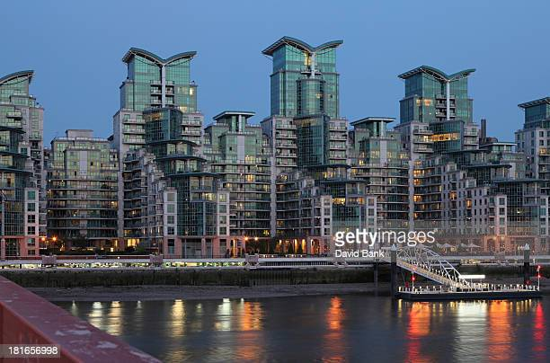 CONTENT] New residential towers at the river Thames in London Vauxhall