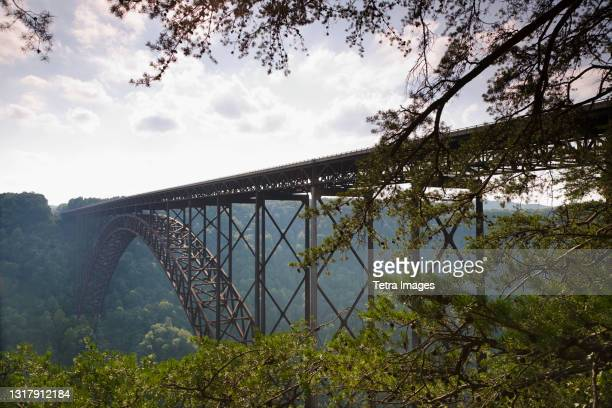 new river gorge bridge, fayetteville, west virginia, usa - fayetteville stock pictures, royalty-free photos & images