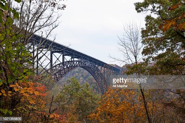 new river gorge bridge - fayetteville stock pictures, royalty-free photos & images