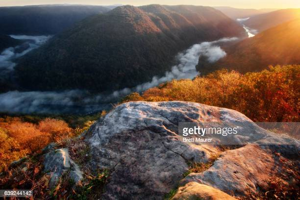 New River Gorge Sunrise, Grandview West Virginia