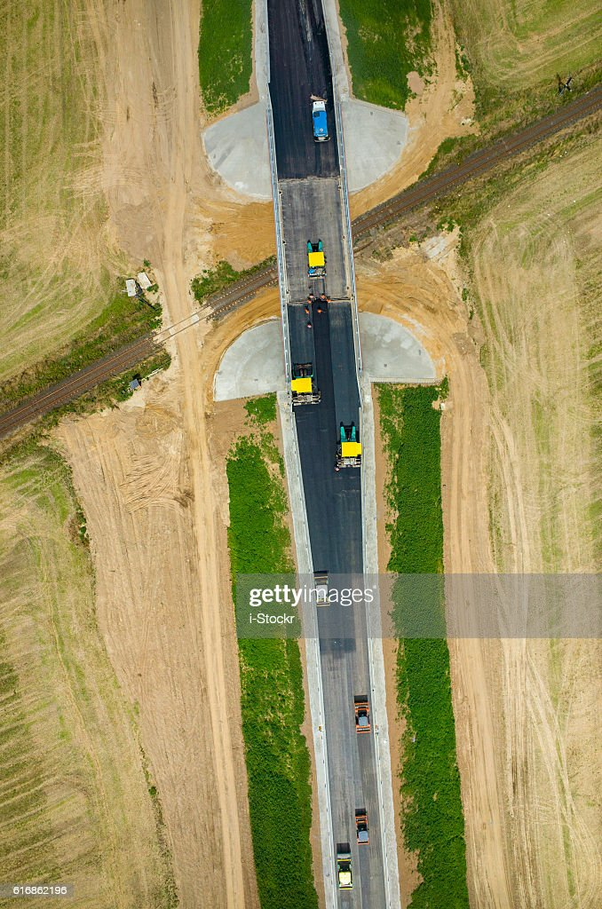 New road construction : Stock Photo