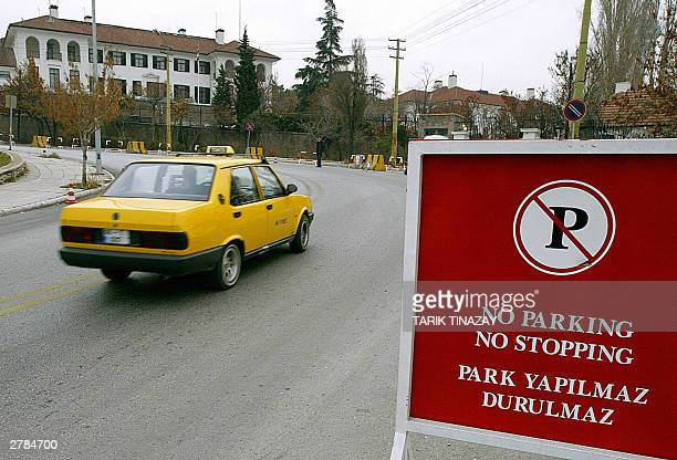New road signs have been placed on the road to the British Embassy in Ankara 05 December 2003 Since the suicide bomb attacks in Istanbul security...