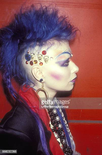 A New Romantic Goth woman named Jane Khan who was a fashion designer from Birmingham who ran an outlet in The Great Gear Market King's Road Chelsea...