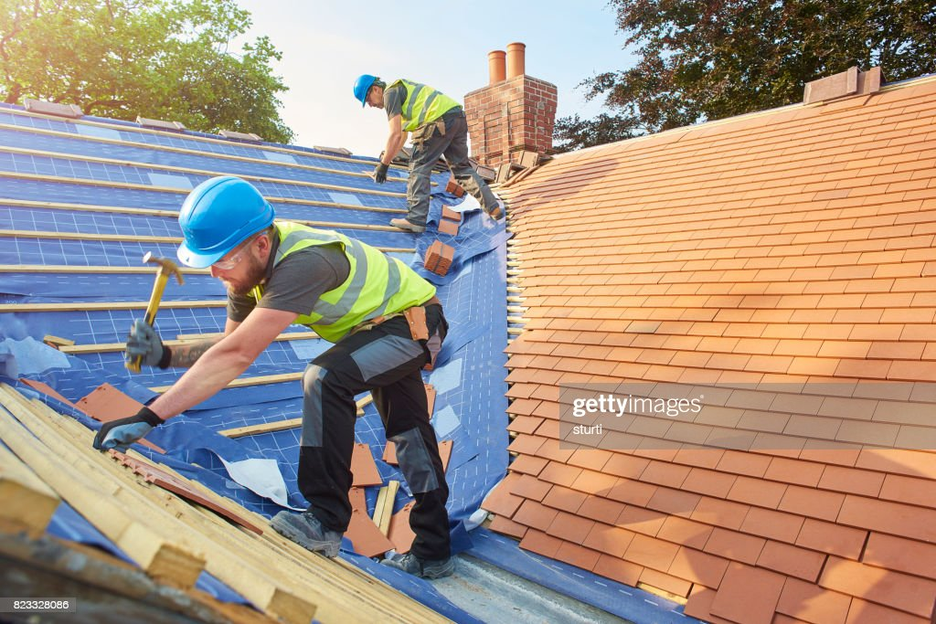 new roof installation : Stock Photo