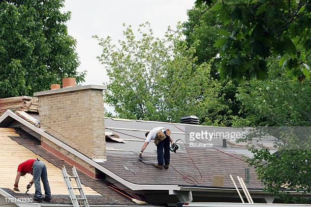 new roof! - roof stock pictures, royalty-free photos & images