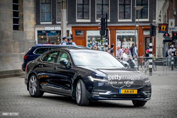 New royal Volvo S90 car at the Royal Palace for the annual palace symposium on June 15 2017 in Amsterdam Netherlands Theme of the symposium is...