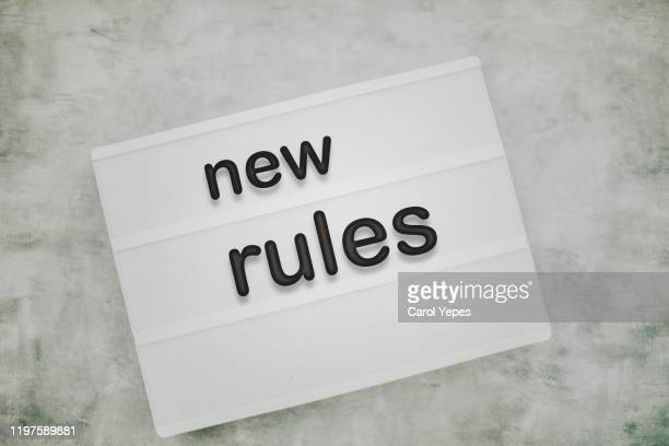 new rules message on lightbox.top view - rules stock pictures, royalty-free photos & images