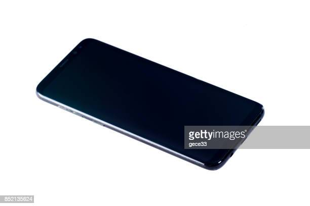 new samsung s8+ isolated on white - plus key stock photos and pictures