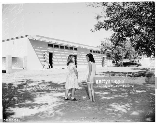 New schools in San Fernando Valley, 29 August 1952. John Foate ;Phil Webb ;Hiky Schwartz ;Robert Kaplan -- 8 years;Mrs Lennet Power ;Art Harris...