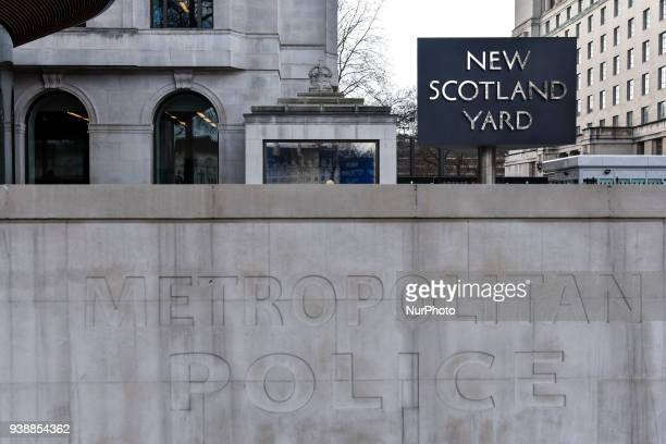 New Scotland Yard headquarters is pictured in central London, on March 27, 2018.