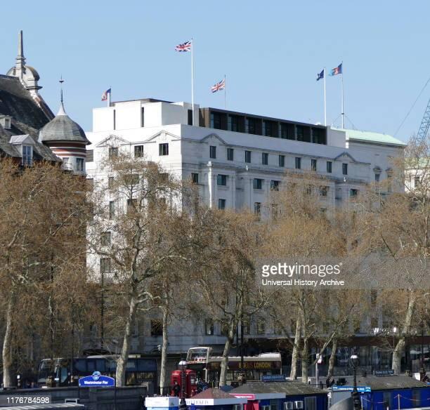 New Scotland Yard, London. Headquarters of the Metropolitan Police.