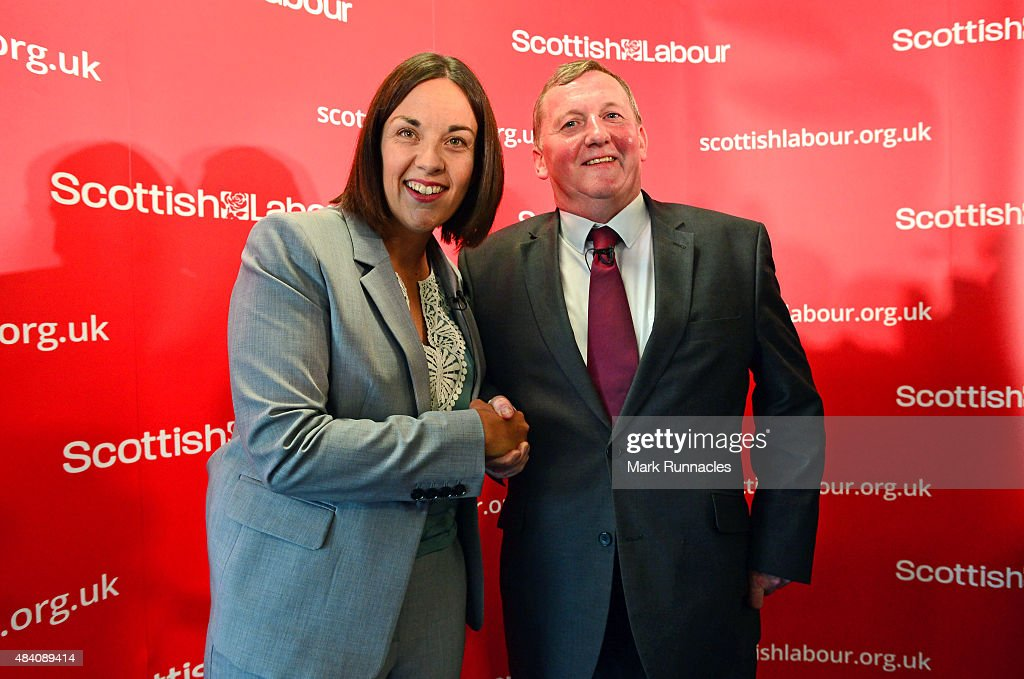 New Scottish Labour Leader Kezia Dugdale (L) MSP, and Deputy Leader Alex Rowley MSP pose for a photograph after the announcement of the result of the Scottish Labour leadership and deputy leadership contests at the Stirling Court Hotel, University of Stirling on August 15, 2015 in Stirling, Scotland. The search for a new Scottish Labour leader has been underway since former leader Jim Murphy stepped down, after Scottish Labour's heavy defeat in the UK General Election earlier this year.
