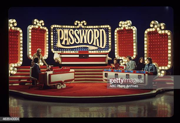 PASSWORD New Set Show Coverage Shoot Date March 10 1975 CONTESTANTS