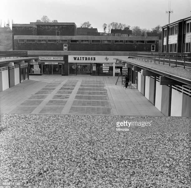 New shopping centre, near Prospect Park, Reading, Berkshire, 14th February 1967.