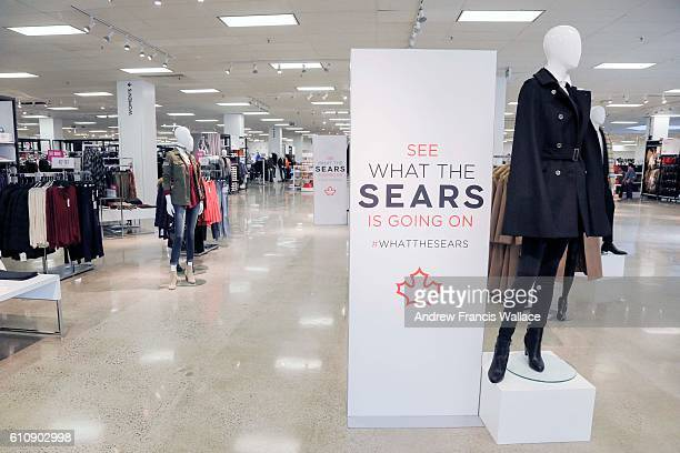 TORONTO ON SEPTEMBER 27 New signage at Sears Canada Promenade Mall store in Thornhill September 27 2016 Sears Canada 20 is launching a new look at...
