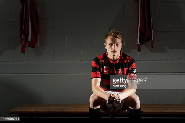 New signing Aaron Mooy poses before the launch of the new ALeague team Western Sydney Wanderers FC at Parramatta Stadium on June 25 2012 in Sydney...