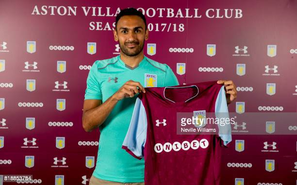 New signing Ahmed Elmohamady of Aston Villa poses for a picture at the club's training ground at Bodymoor Heath on July 19 2017 in Birmingham England