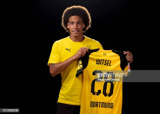 New signing Axel Witsel of Borussia Dortmund poses during Borussia Dortmund's training camp on August 7 2018 in Bad Ragaz Switzerland