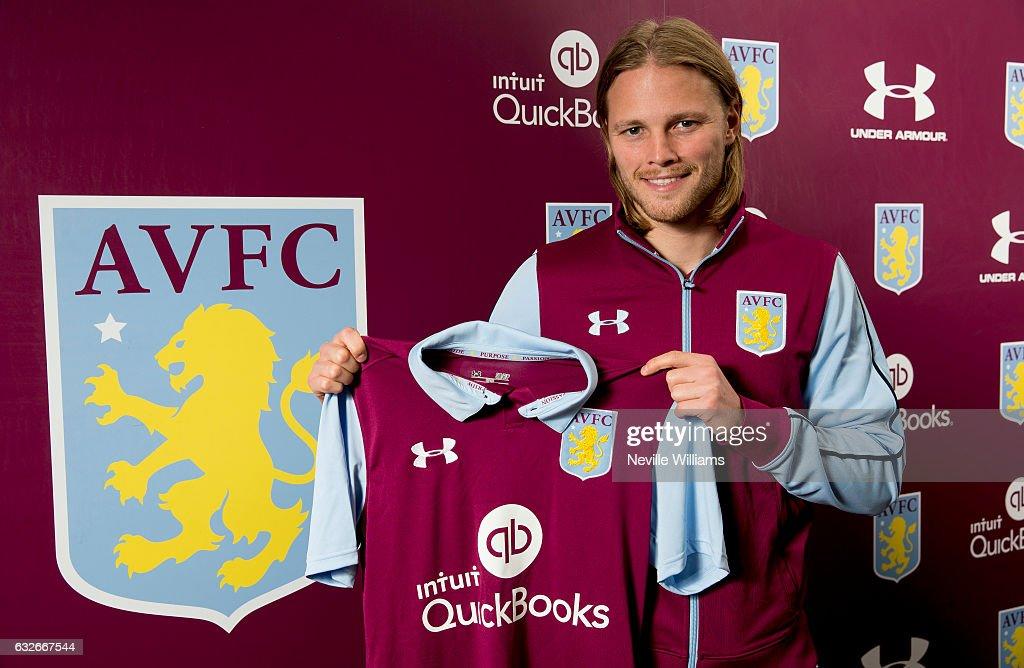 Aston Villa Unveil New Signing Birkir Bjarnason
