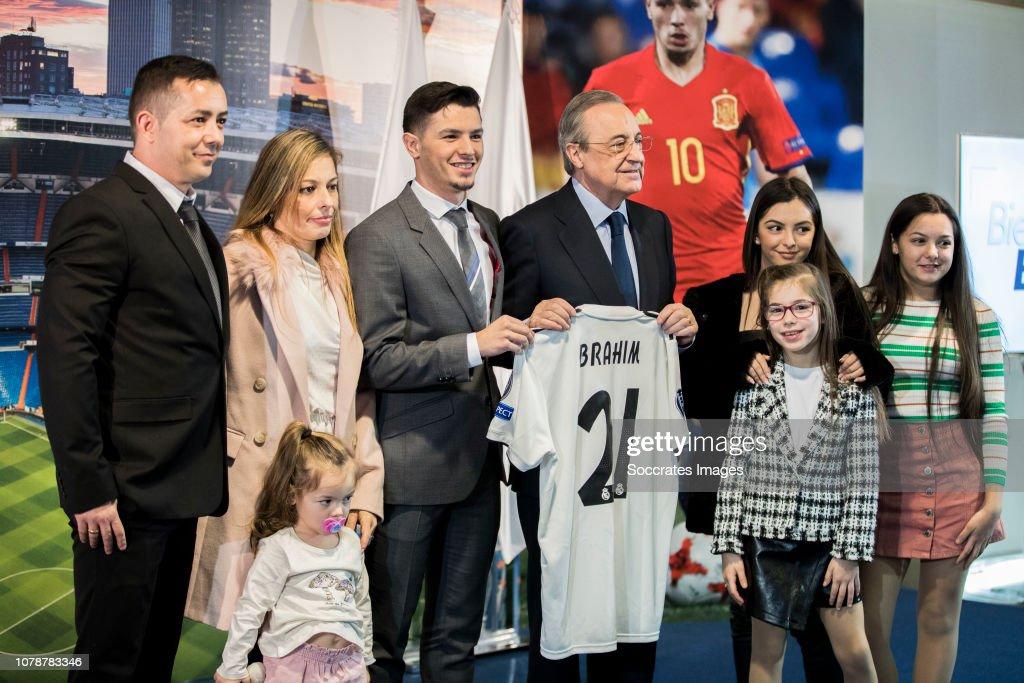 presentation Brahim Diaz at Real Madrid : News Photo