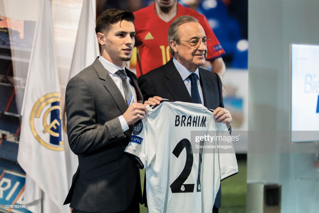 presentation Brahim Diaz at Real Madrid : News Photo