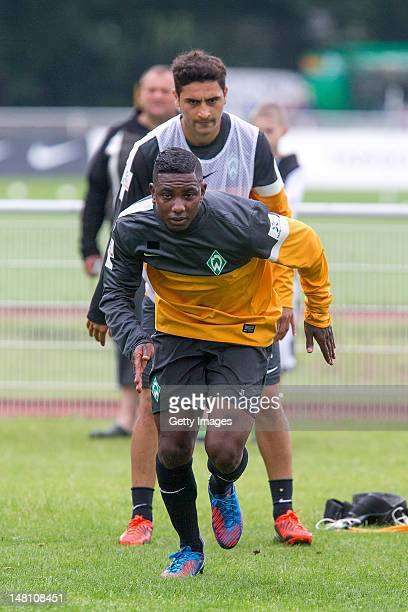 New signing Eljero Elia of Werder Bremen attends a preseason training session at their training ground on July 10 2012 in Norderney Germany
