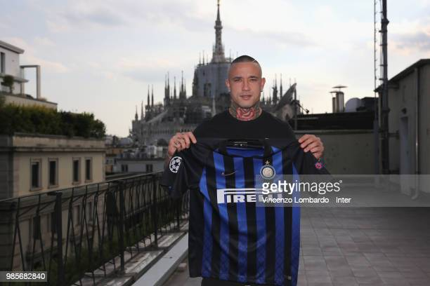 New signing for FC Internazionale Milano Radja Nainggolan signs his contract on June 25 2018 in Milan Italy