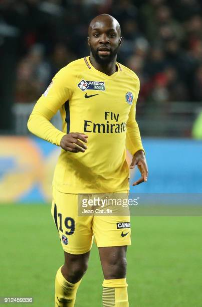 New signing for PSG Lassana Diarra during the French League Cup match between Stade Rennais and Paris Saint Germain at Roazhon Park on January 30...