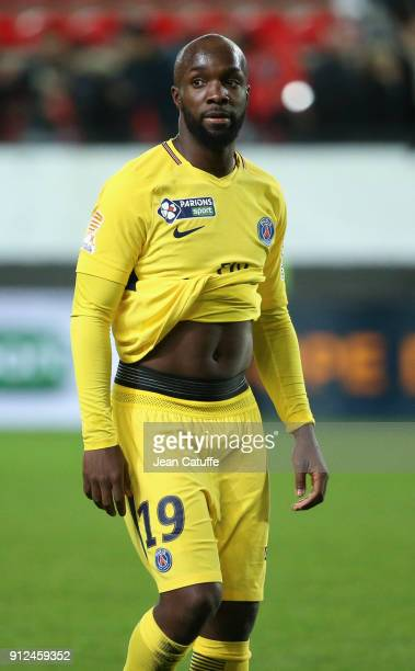 New signing for PSG Lassana Diarra salutes the fans following the French League Cup match between Stade Rennais and Paris Saint Germain at Roazhon...