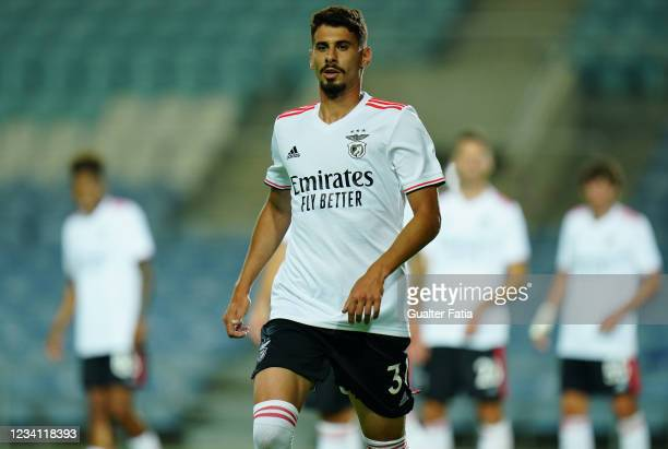 New signing Gil Dias of SL Benfica during the Pre-Season Friendly match between SL Benfica and Lille at Estadio Algarve on July 22, 2021 in Loule,...