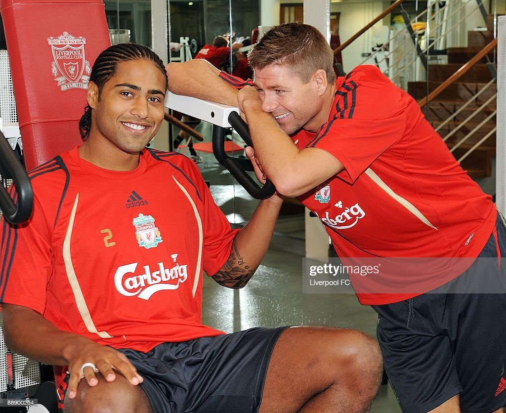 Glen Johnson Spends His First Day At Liverpool FC : News Photo