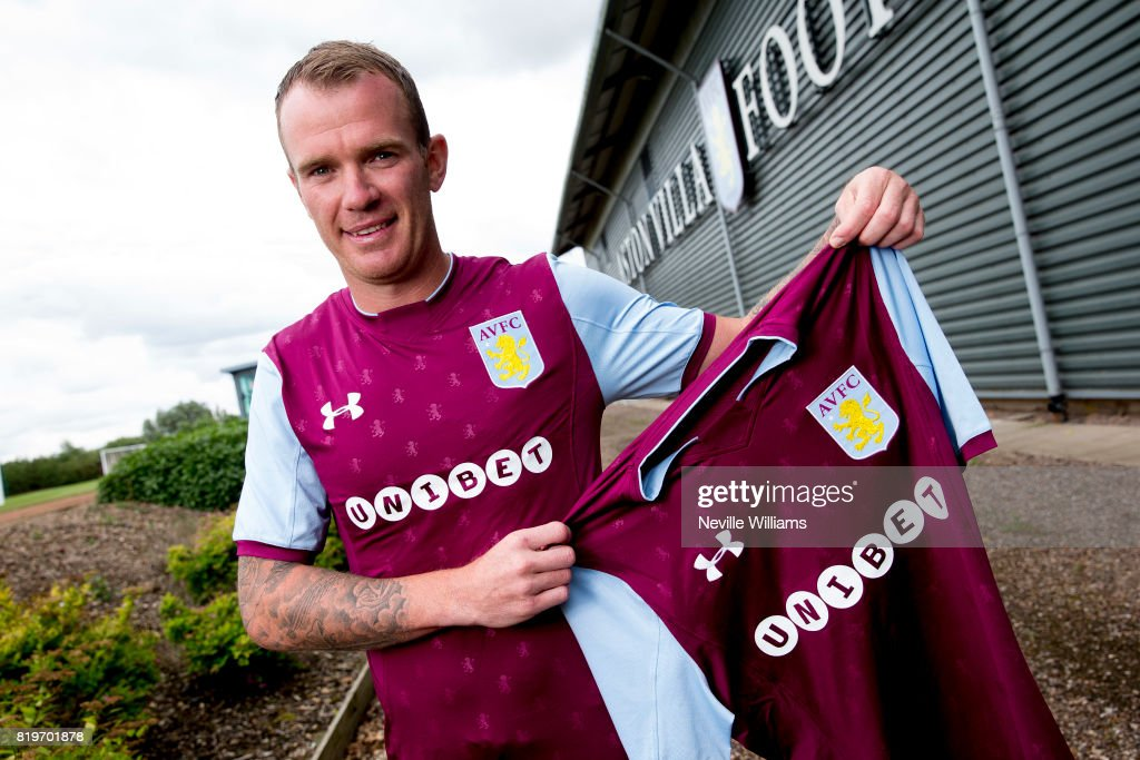 New signing Glenn Whelan of Aston Villa poses for a picture at the club's training ground at Bodymoor Heath on July 20, 2017 in Birmingham, England.