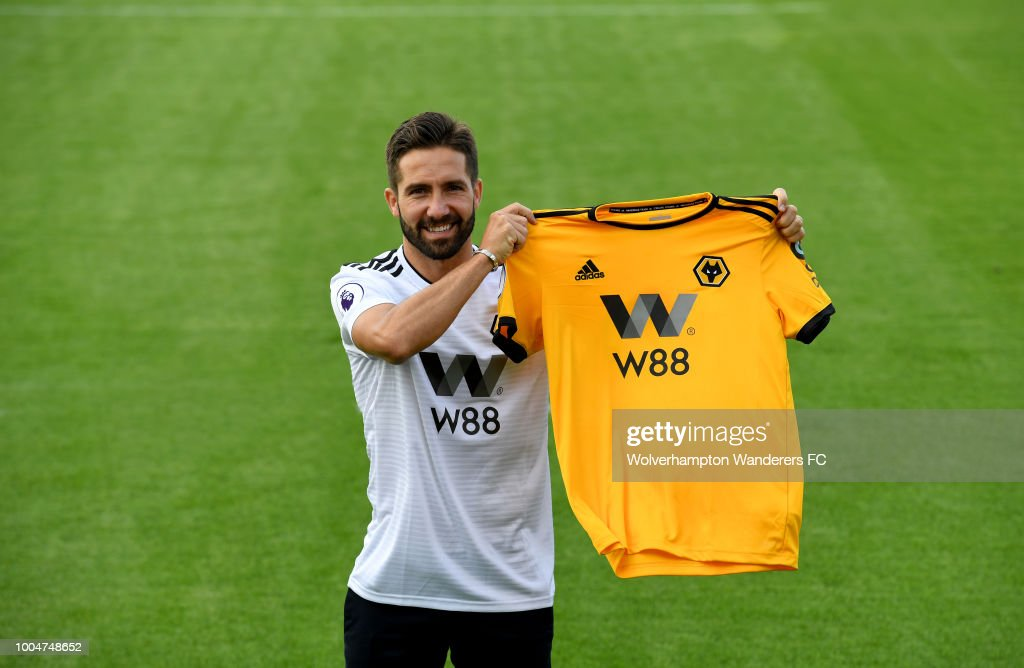 New Signing Joao Moutinho at the Sir Jack Hayward Training Ground on July 24, 2018 in Wolverhampton, England.