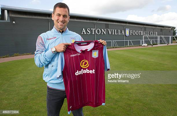 New signing Joe Cole of Aston Villa poses for a picture at the club's training ground at Bodymoor Heath on June 10 2014 in Birmingham England