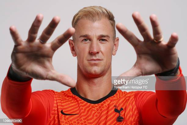 New signing Joe Hart of Tottenham Hotspur is unveiled by the club on August 18, 2020 in Enfield, England.