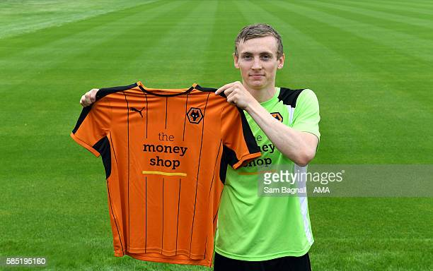 New signing Jon Dadi Bodvarsson of Wolverhampton Wanderers and Iceland at Molineux on August 1 2016 in Wolverhampton England