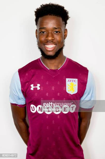 New signing Josh Onomah of Aston Villa poses for a picture at the club's training ground at Bodymoor Heath on August 04 2017 in Birmingham England