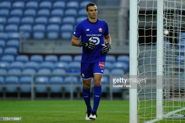 New signing Leo Jardim of LOSC Lille in action during the Pre-Season Friendly match between SL Benfica and Lille at Estadio Algarve on July 22, 2021...