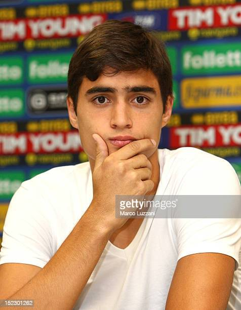 New signing Manuel Arteaga looks on during his unveiling press conference at Ennio Tardini Stadium on September 18 2012 in Parma Italy