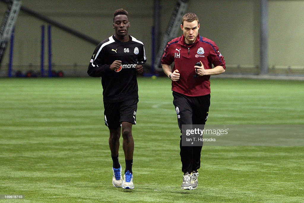 New signing Massadio Haidara of Newcastle undergoes a set of physical tests before completing his transfer to Newcastle United on January 24, 2013 in Newcastle upon Tyne, England.
