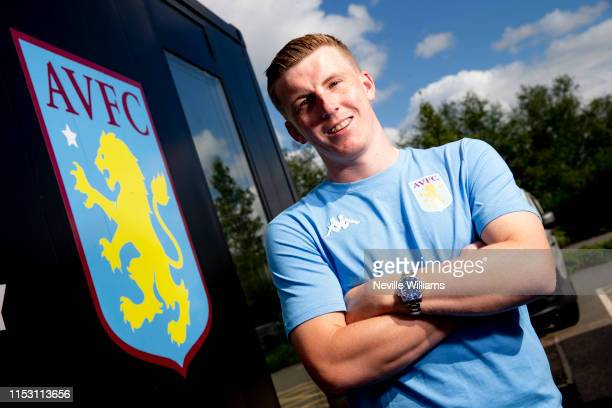 New Signing Matt Targett of Aston Villa poses at Bodymoor Heath training ground on June 30 2019 in Birmingham England