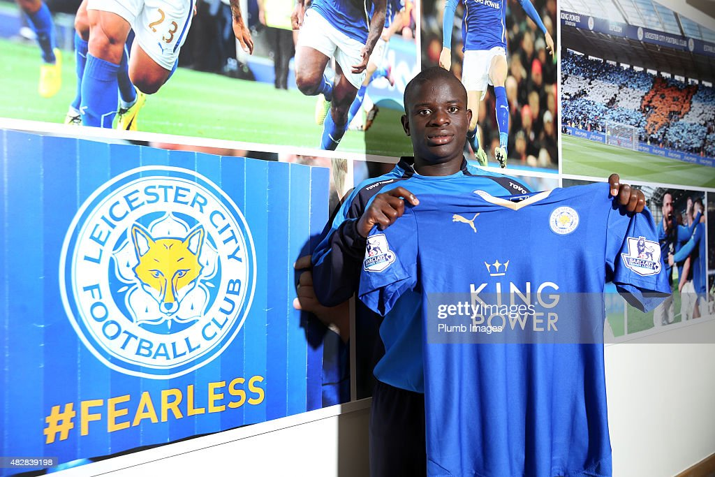 Leicester City Unveil New Signing N'Golo Kante : News Photo