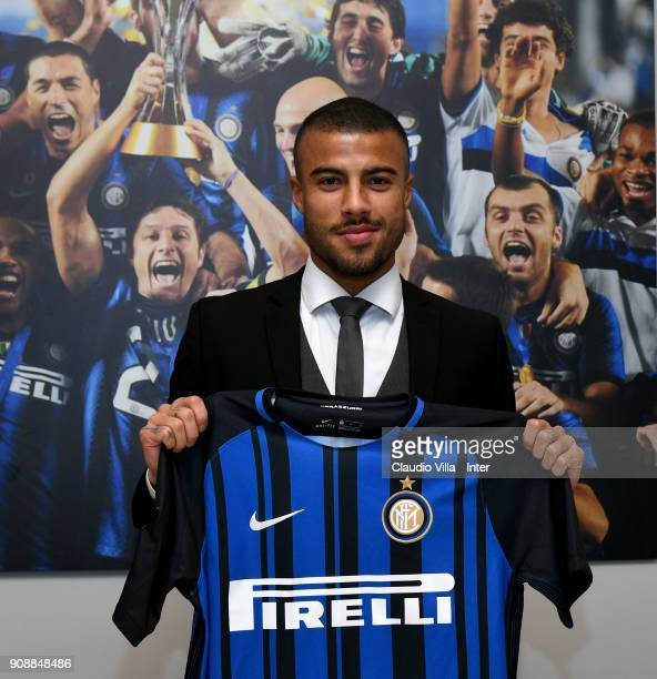 New signing of FC Internazionale Milano Rafael Alcântara do Nascimento Rafinha poses for a photo at FC Internazionale headquarters on January 22 2018...