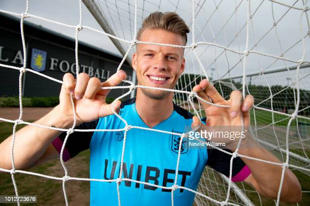 New signing Orjan Nyland of Aston Villa poses for a picture at the club's training ground at Bodymoor Heath on August 07 2018 in Birmingham England