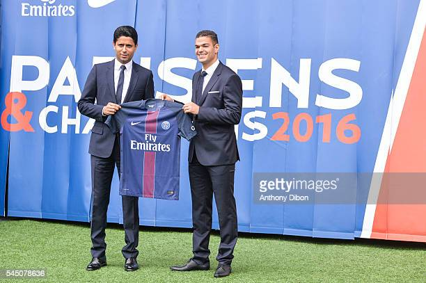 New signing player Hatem Ben Arfa during the press conference of Paris Saint Germain at Parc des Princes on July 4 2016 in Paris France