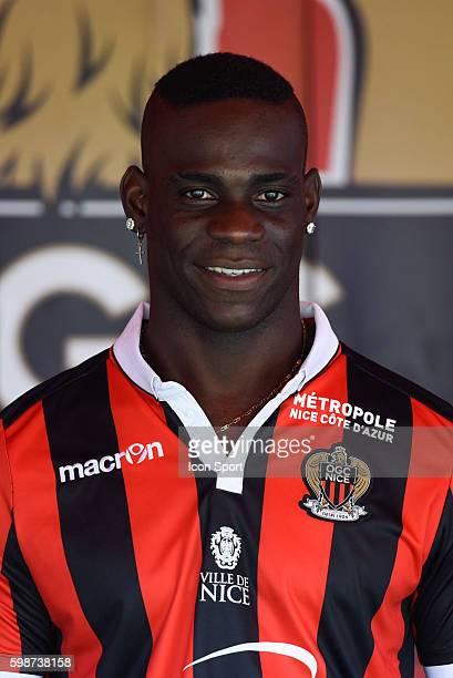 New signing player of Nice Mario Balotelli during press conference of OGC Nice on September 2 2016 in Nice France