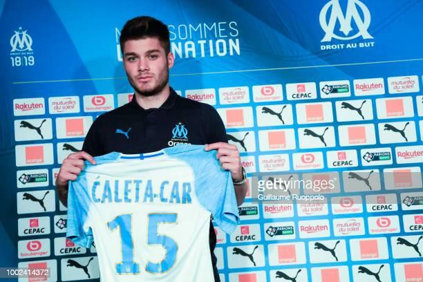 Duje Caleta Car Olympique De Marseille Press Conference Photos and ...