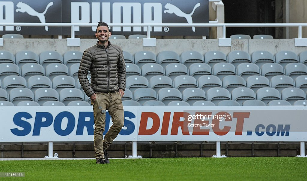 New signing Remy Cabella walks on the pitch at St.James' Park on July 13, 2014 in Newcastle upon Tyne, England.
